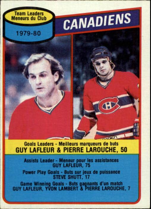 1980-81 O-Pee-Chee #216 Guy Lafleur/Pierre Larouche TL