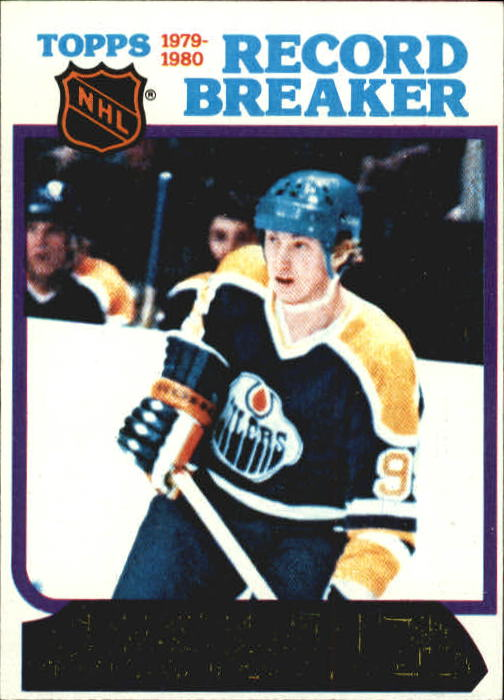 1980-81 Topps #3 Wayne Gretzky RB/Youngest 50-goal Scorer