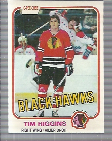 1981-82 O-Pee-Chee #57 Tim Higgins RC
