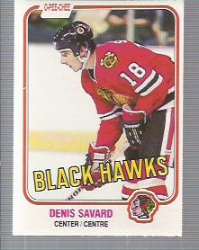 1981-82 O-Pee-Chee #63 Denis Savard RC