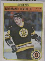 1982-83 O-Pee-Chee #13 Normand Leveille RC