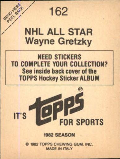 1982-83 Topps Stickers #162 Wayne Gretzky AS/FOIL back image