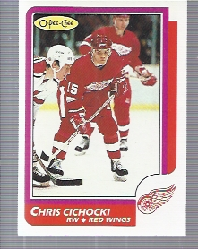 1986-87 O-Pee-Chee #41 Chris Cichocki RC