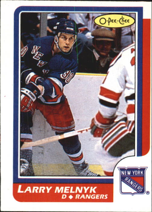 1986-87 O-Pee-Chee #95 Larry Melnyk RC