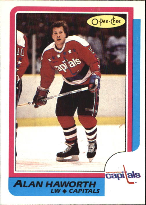 1986-87 O-Pee-Chee #107 Alan Haworth