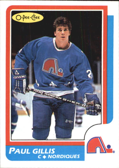 1986-87 O-Pee-Chee #168 Paul Gillis RC