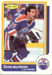 1986-87 O-Pee-Chee #178 Craig MacTavish RC