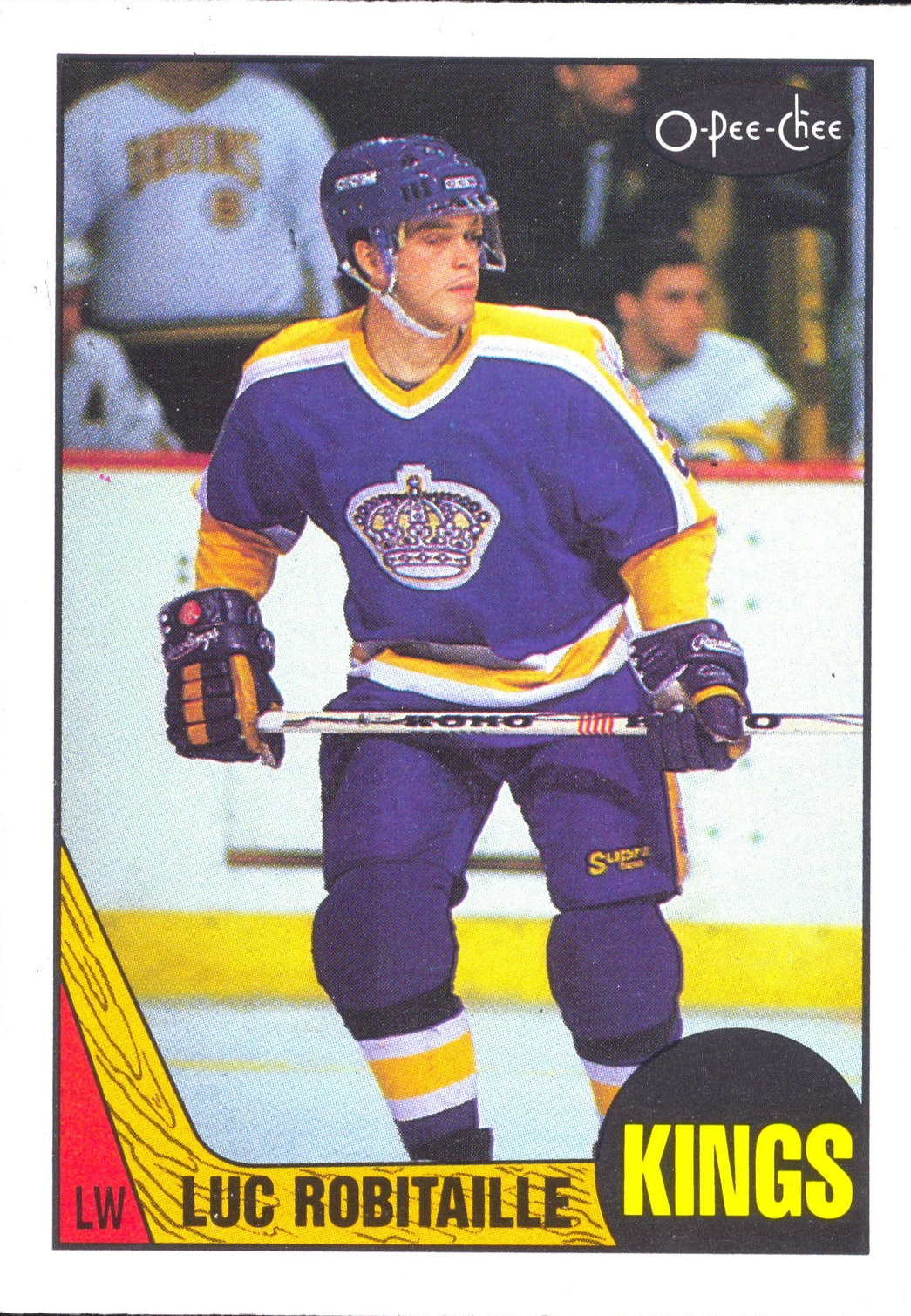 1987-88 O-Pee-Chee #42 Luc Robitaille RC
