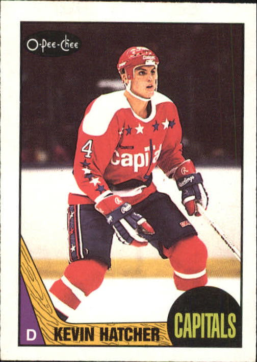 1987-88 O-Pee-Chee #68 Kevin Hatcher RC