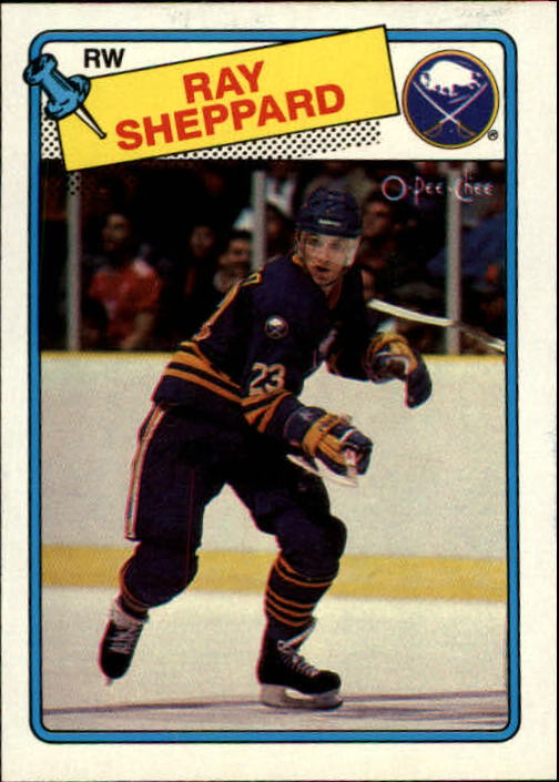 1988-89 O-Pee-Chee #55 Ray Sheppard RC