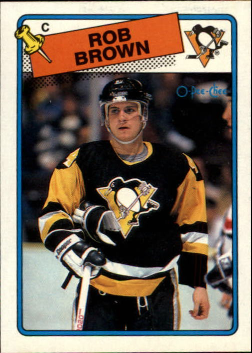 1988-89 O-Pee-Chee #109 Rob Brown RC