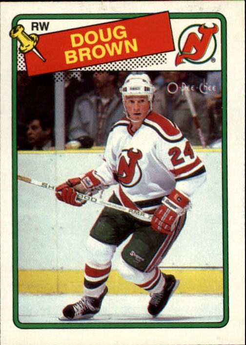 1988-89 O-Pee-Chee #115 Doug Brown RC