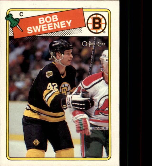 1988-89 O-Pee-Chee #134 Bob Sweeney RC