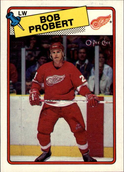 1988-89 O-Pee-Chee #181 Bob Probert RC