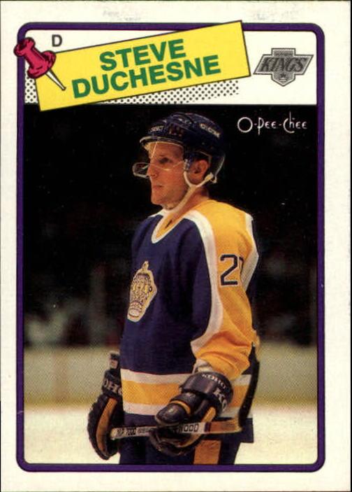 1988-89 O-Pee-Chee #182 Steve Duchesne RC