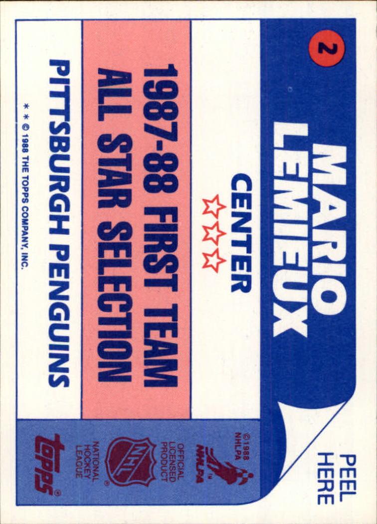 1988-89 Topps #2 Bob Joyce DP RC back image
