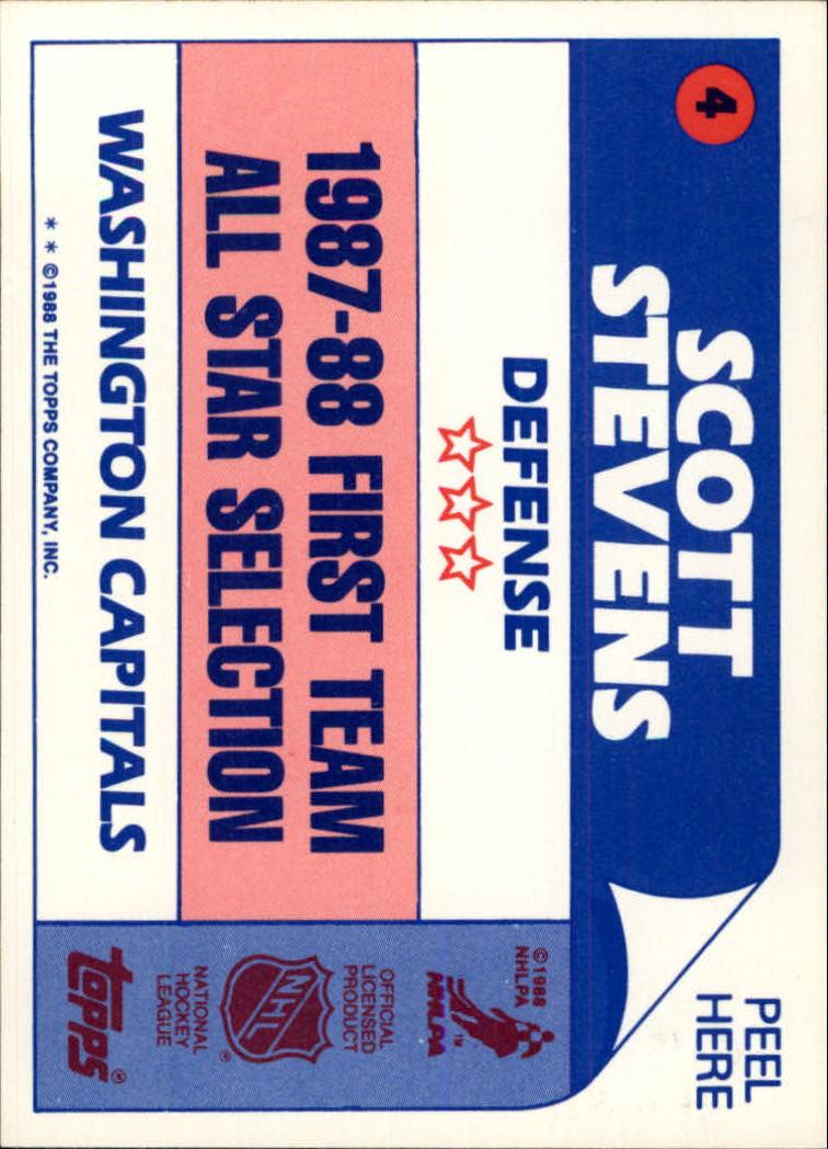 1988-89 Topps #4 Tony McKegney back image