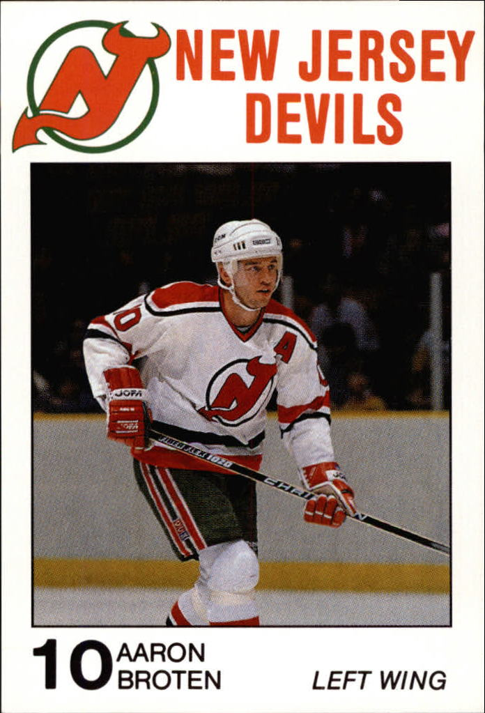 1988-89 Devils Carretta #3 Aaron Broten 10