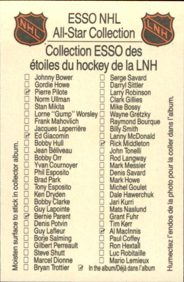 1988-89 Esso All-Stars #18 Gordie Howe back image