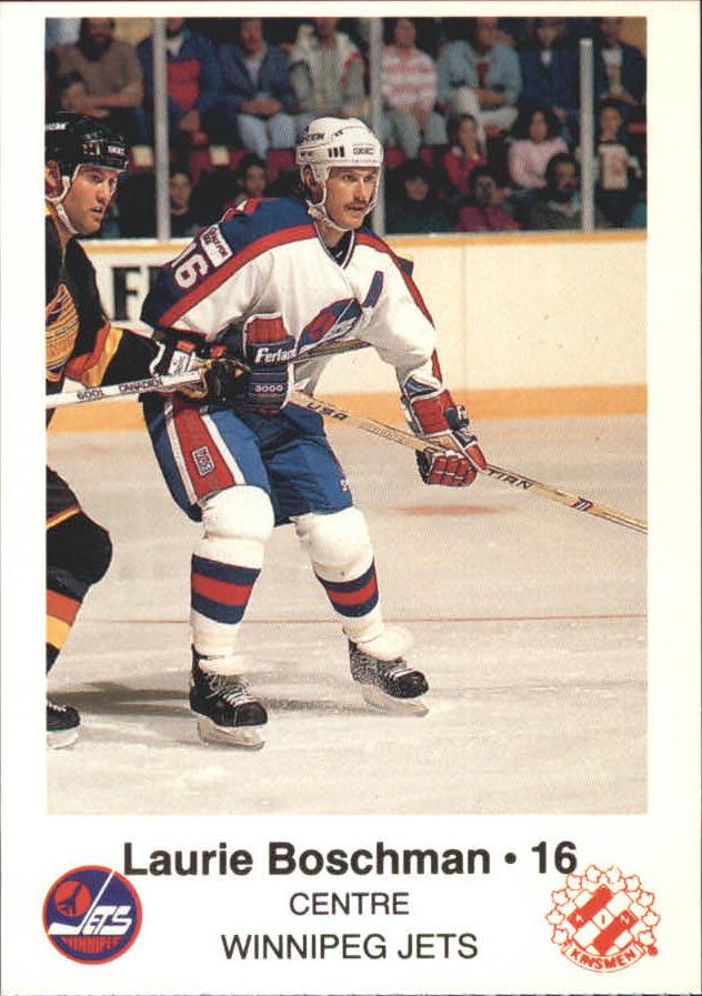 1988-89 Jets Police #2 Laurie Boschman 16