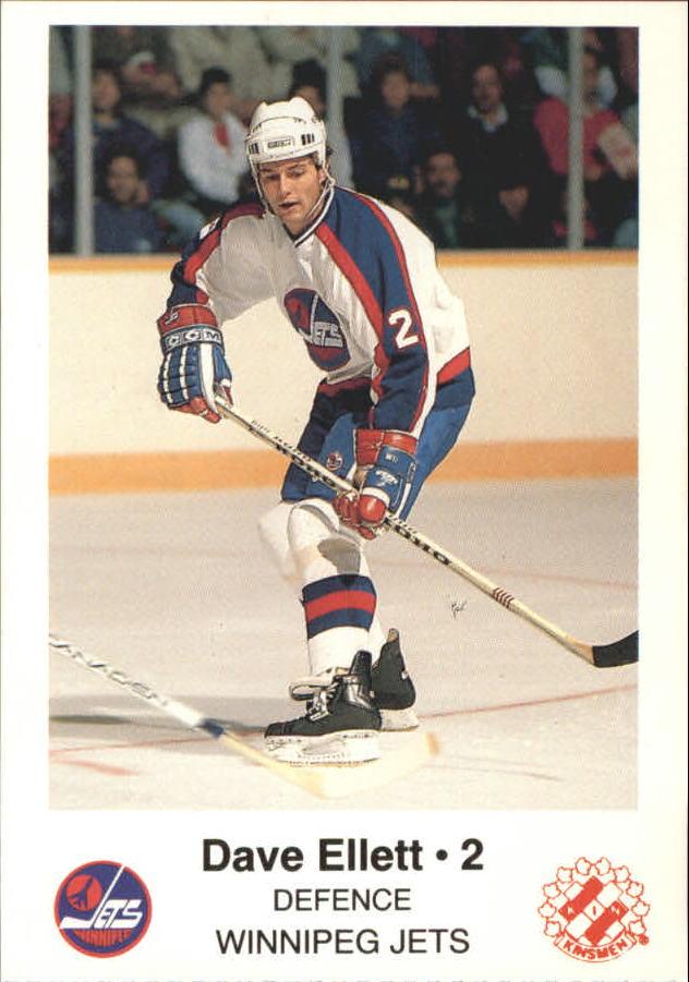 1988-89 Jets Police #6 Dave Ellett 2