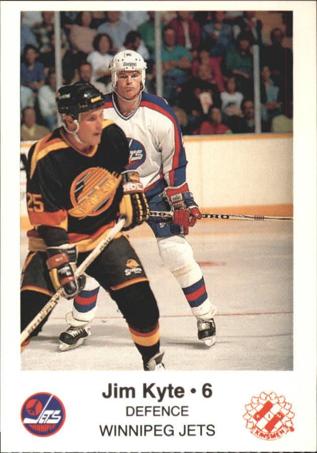 1988-89 Jets Police #12 Jim Kyte 6