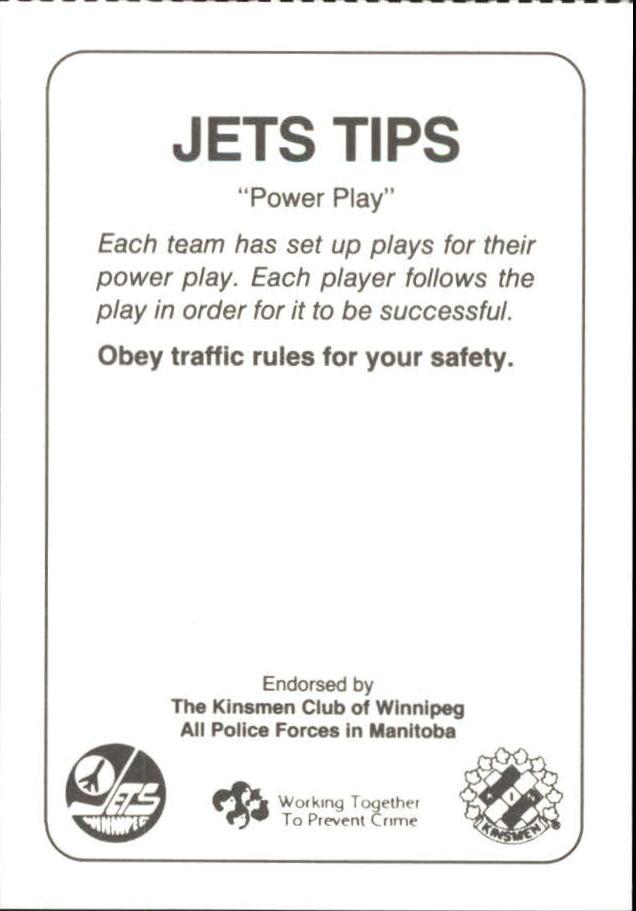 1988-89 Jets Police #15 Andrew McBain 20 back image
