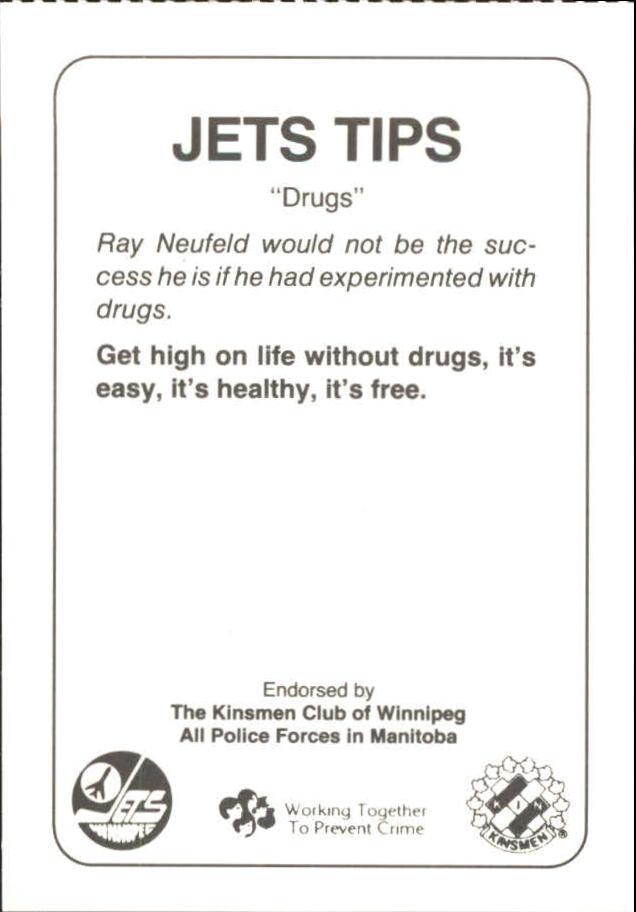 1988-89 Jets Police #16 Ray Neufeld 28 back image