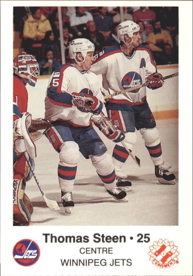 1988-89 Jets Police #21 Thomas Steen 25