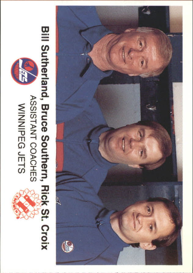 1988-89 Jets Police #23 Assistant Coaches/Bill Sutherland/Bruce Southern/Rick St.Croix