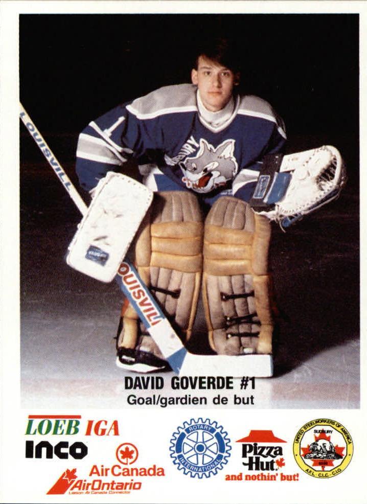 1988-89 Sudbury Wolves #2 David Goverde