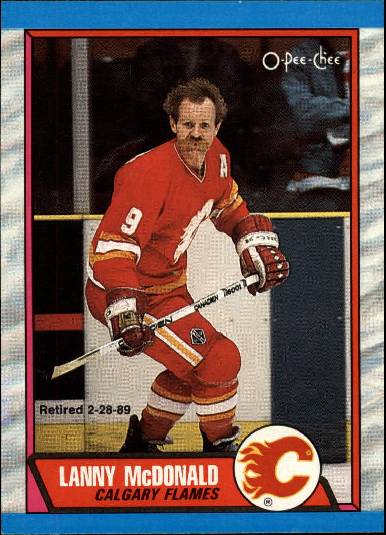 1989-90 O-Pee-Chee #7 Lanny McDonald