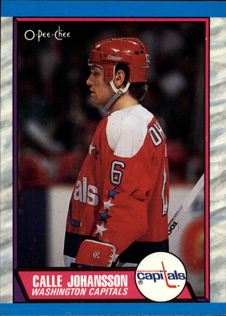 1989-90 O-Pee-Chee #16 Calle Johansson RC