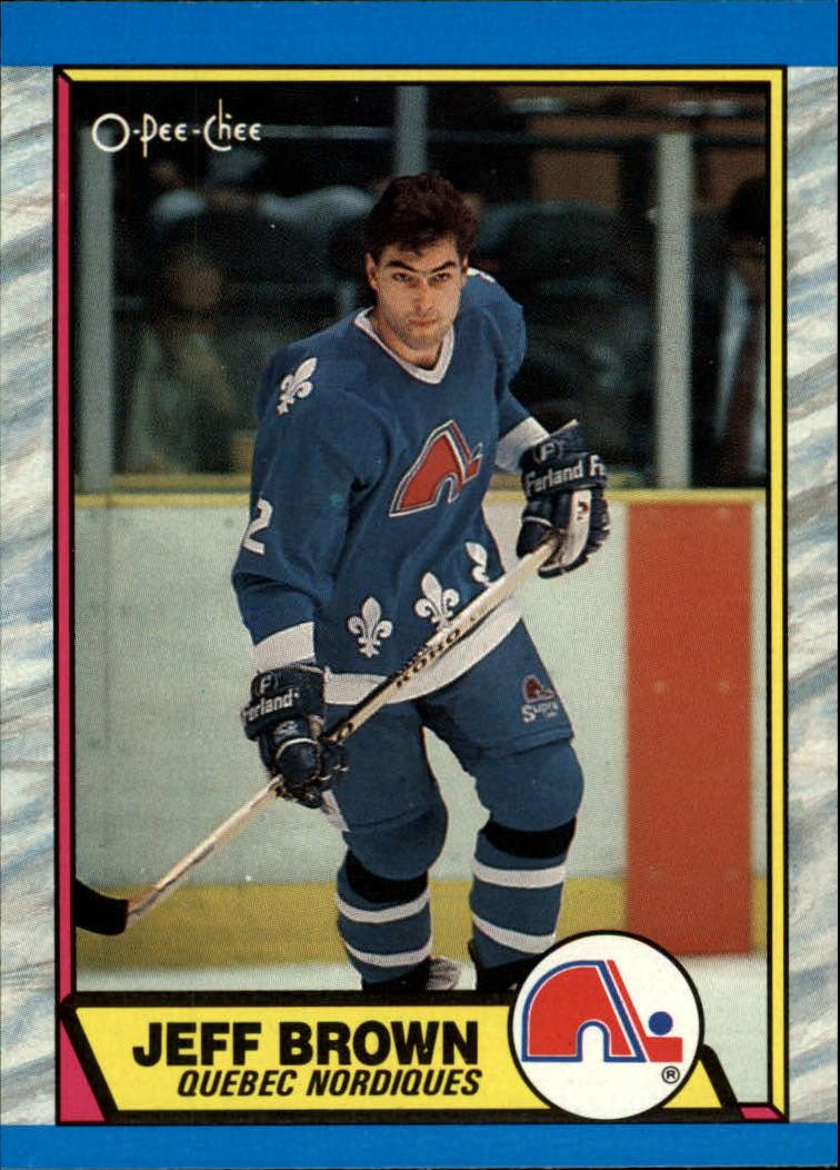 1989-90 O-Pee-Chee #28 Jeff Brown