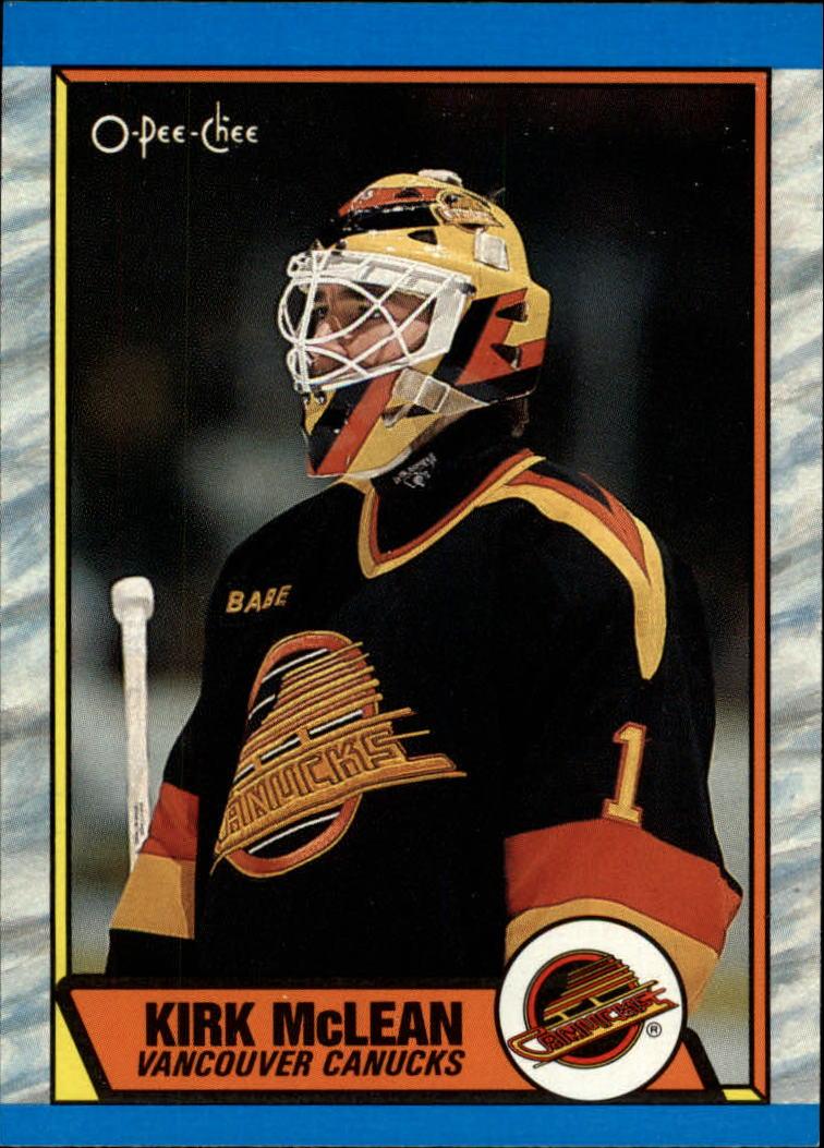 1989-90 O-Pee-Chee #61 Kirk McLean RC
