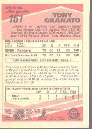 1989-90 O-Pee-Chee #161 Tony Granato RC back image