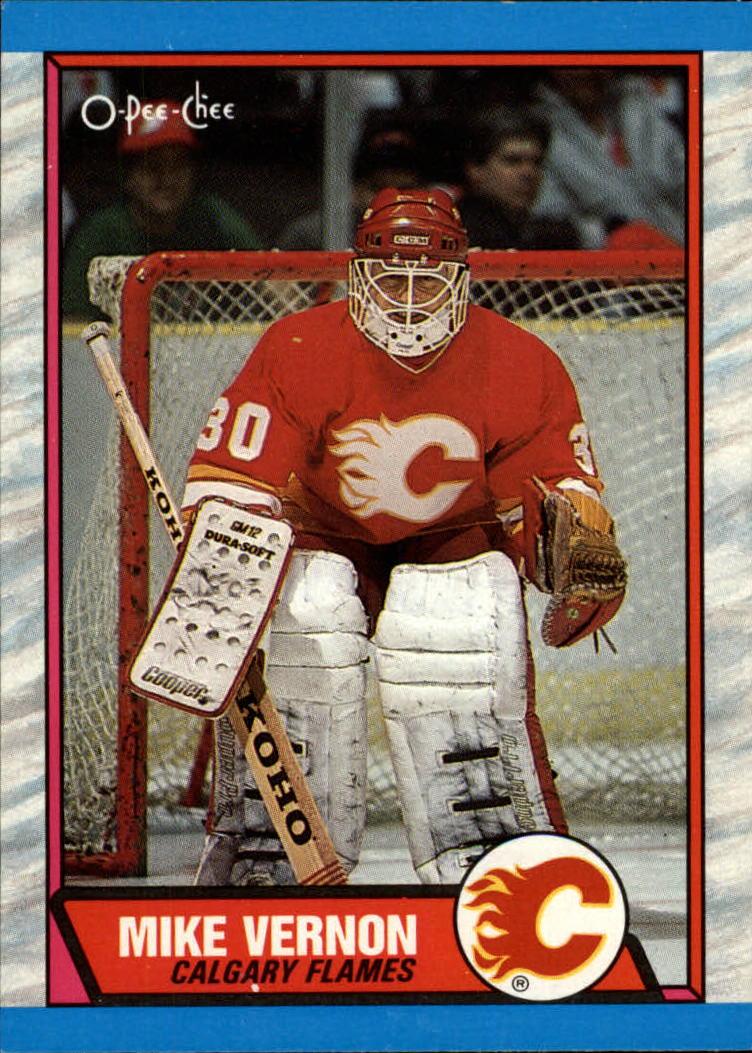 1989-90 O-Pee-Chee #163 Mike Vernon