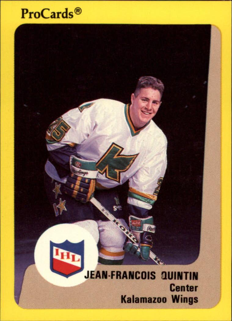 1989-90 ProCards IHL #97 Jean-Francois Quintin