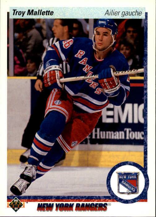 1990-91 Upper Deck French #11 Troy Mallette RC