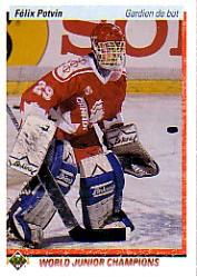 1990-91 Upper Deck French #458 Felix Potvin RC