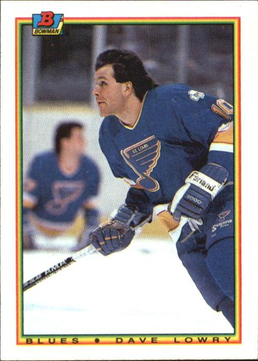 1990-91 Bowman #15 Dave Lowry RC