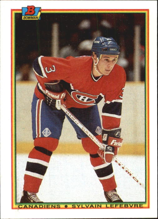 1990-91 Bowman #48 Sylvain Lefebvre RC