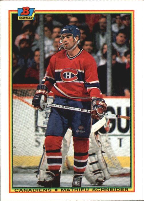 1990-91 Bowman #52 Mathieu Schneider RC