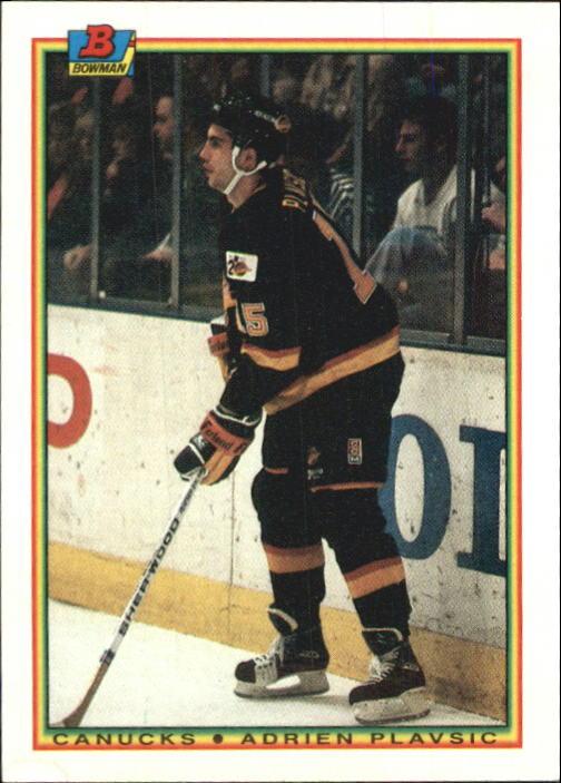 1990-91 Bowman #62 Adrien Plavsic RC