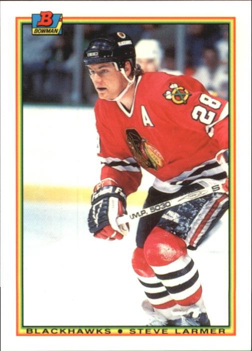 1990-91 Bowman Tiffany #5 Steve Larmer