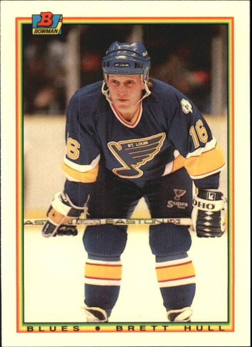 1990-91 Bowman Tiffany #24 Brett Hull