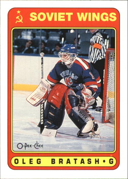 1990-91 O-Pee-Chee #525 Oleg Bratash RC