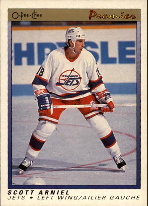 1990-91 OPC Premier #1 Scott Arniel