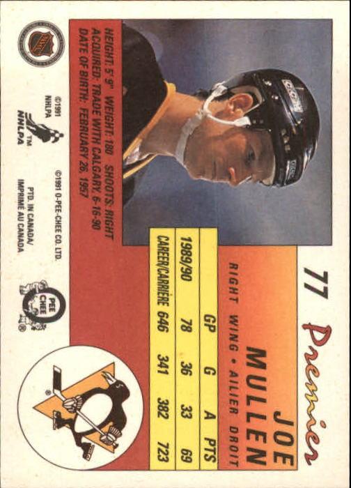 1990-91 OPC Premier #77 Joe Mullen back image