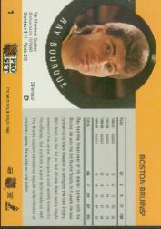 1990-91 Pro Set #1B Ray Bourque ERR/(Misspelled Borque/on card front) back image